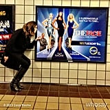 Coco Rocha posed near a subway ad for her new show, The Face. Source: Coco Rocha on WhoSay