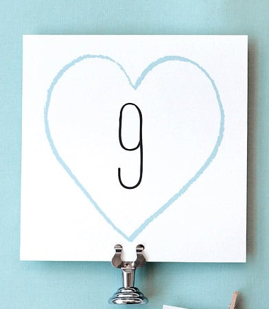 Big Day Table Numbers