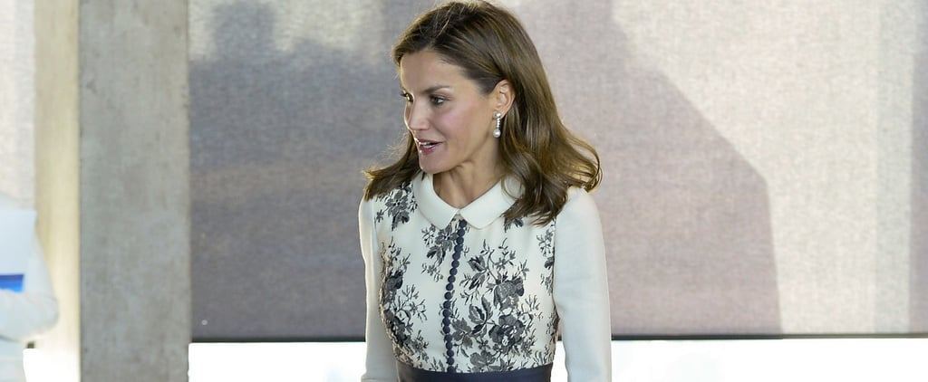 Queen Letizia Blue Floral Felipe Varela Dress