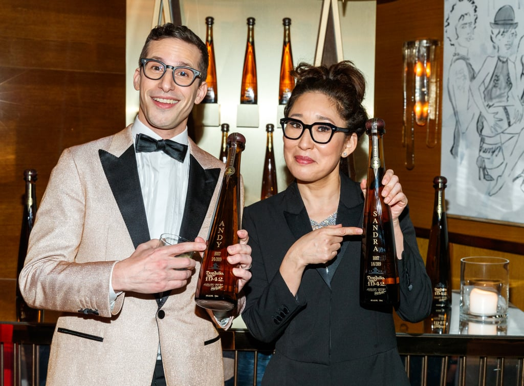 Pictured: Andy Samberg and Sandra Oh