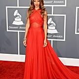 2. Rihanna in Azzedine Alaia at the Grammy Awards