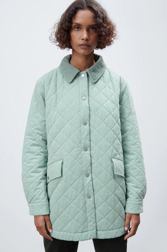 Zara Contrast Puffer Jacket