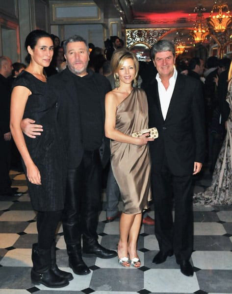 Philippe Stark with his Wife, Yves and Rebecca Carcelle