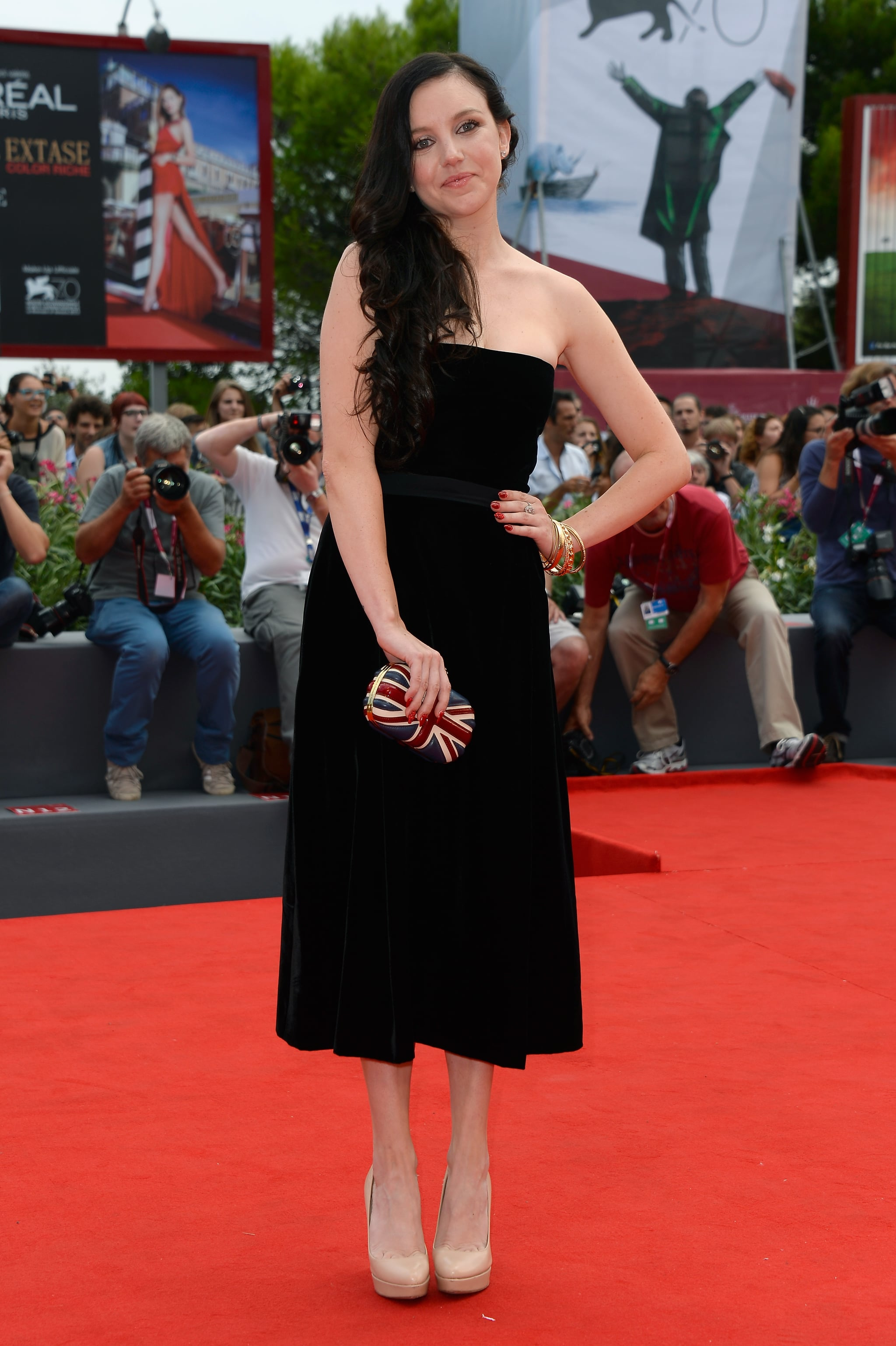 Actress Claudia Levy attended the Palo Alto premiere.