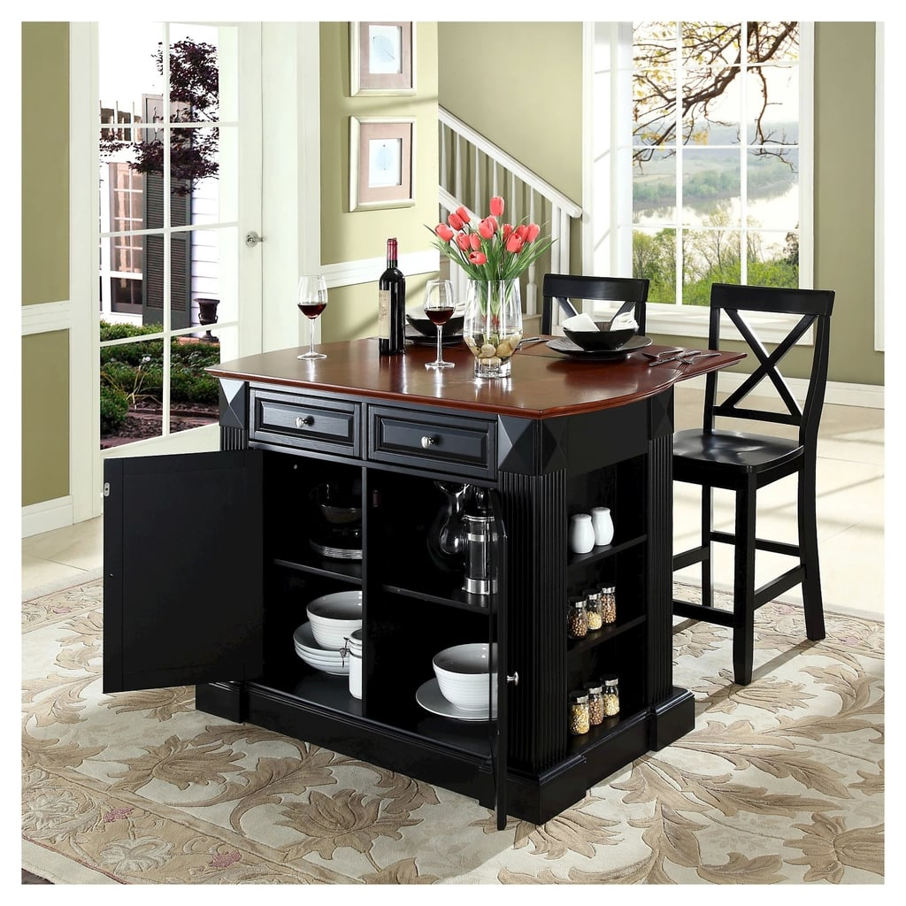 Drop Leaf Breakfast Bar Top Kitchen Island