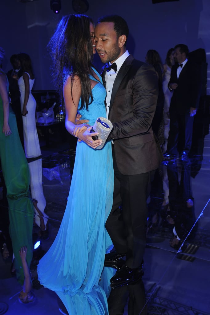 John and Chrissy got close on the dance floor during the amfAR Gala in Milan, back in September 2011.
