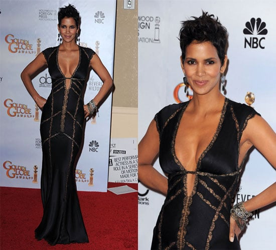 Halle Berry in Kaufman Franco at the 2010 Golden Globe Awards
