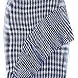 Topshop Gingham Ruffle Mini Skirt