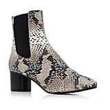 Isabel Marant Danelya Snakeskin-Embossed Chelsea Boots