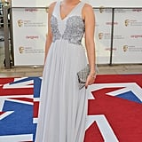 Lydia Bright teamed her Amnesty dress with Reiss shoes.