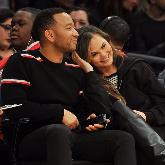 Chrissy Teigen and John Legend at LA Lakers Game Nov. 2017