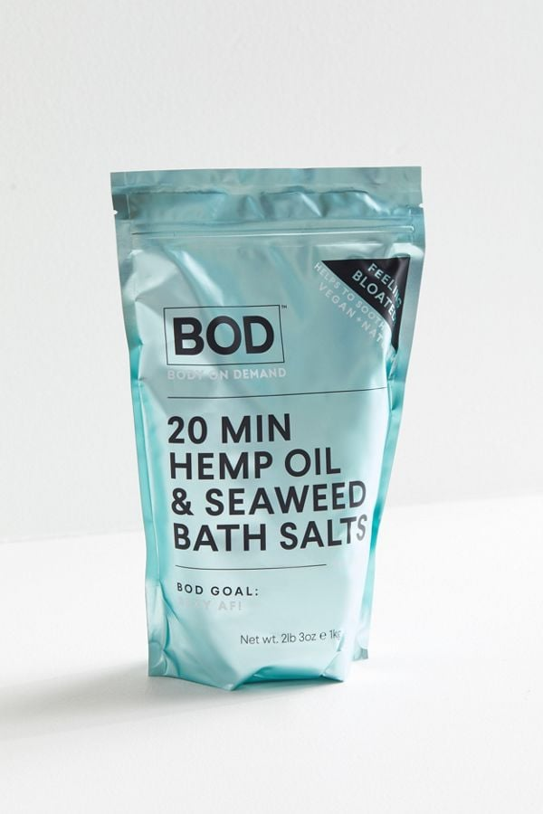 Body on Demand Hemp and Seaweed Bath Salts | Best Bath