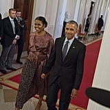 Michelle beamed with pride at Barack's final Medal of Freedom ceremony in November.