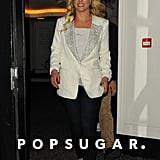 Britney Spears left the Savoy Hotel in London.