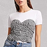 Forever 21 Gingham Twofer Top
