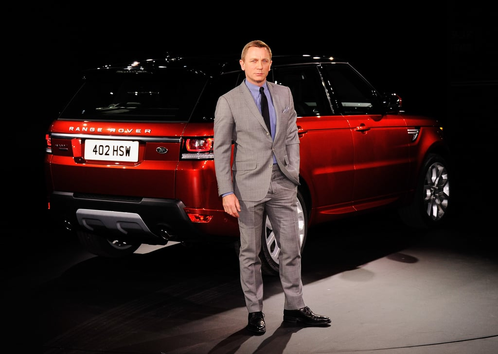 Daniel Craig unveiled the new Range Rover Sport in NYC.