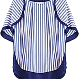 We'd wear this girlie Tsumori Chisato Contrast-Stripe Top ($471) with a pair of white skinny jeans.