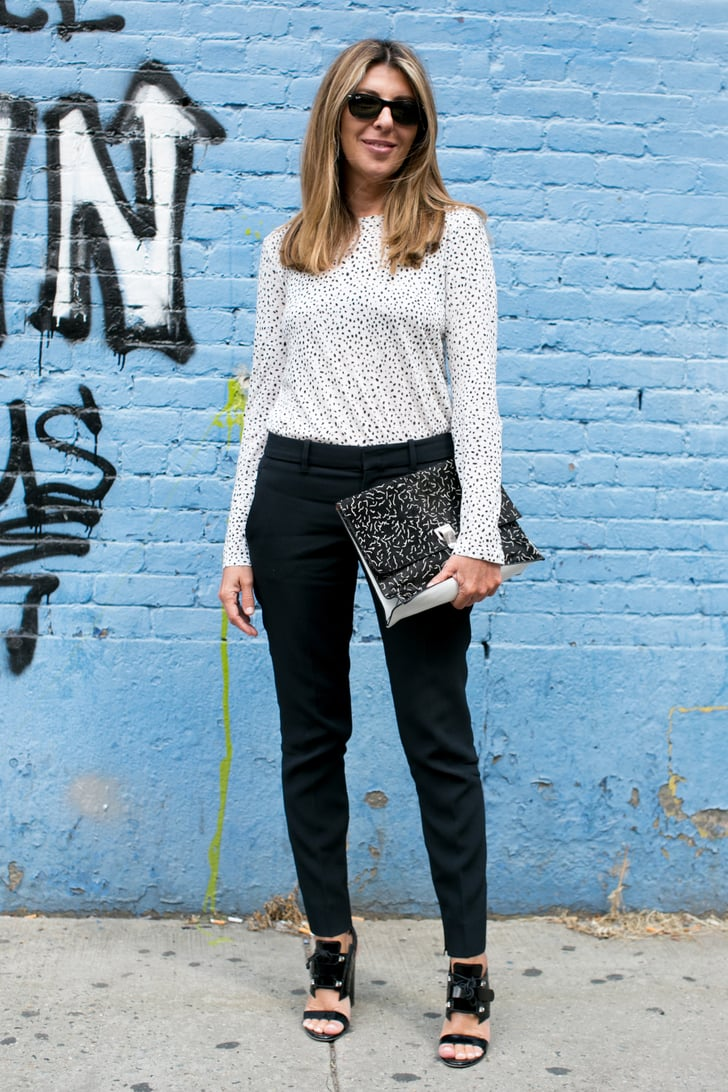 Nina Garcia paired her printed blouse with the perfect ...