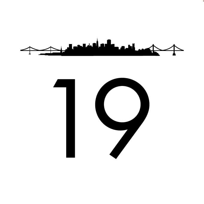 San Francisco Skyline Table Numbers