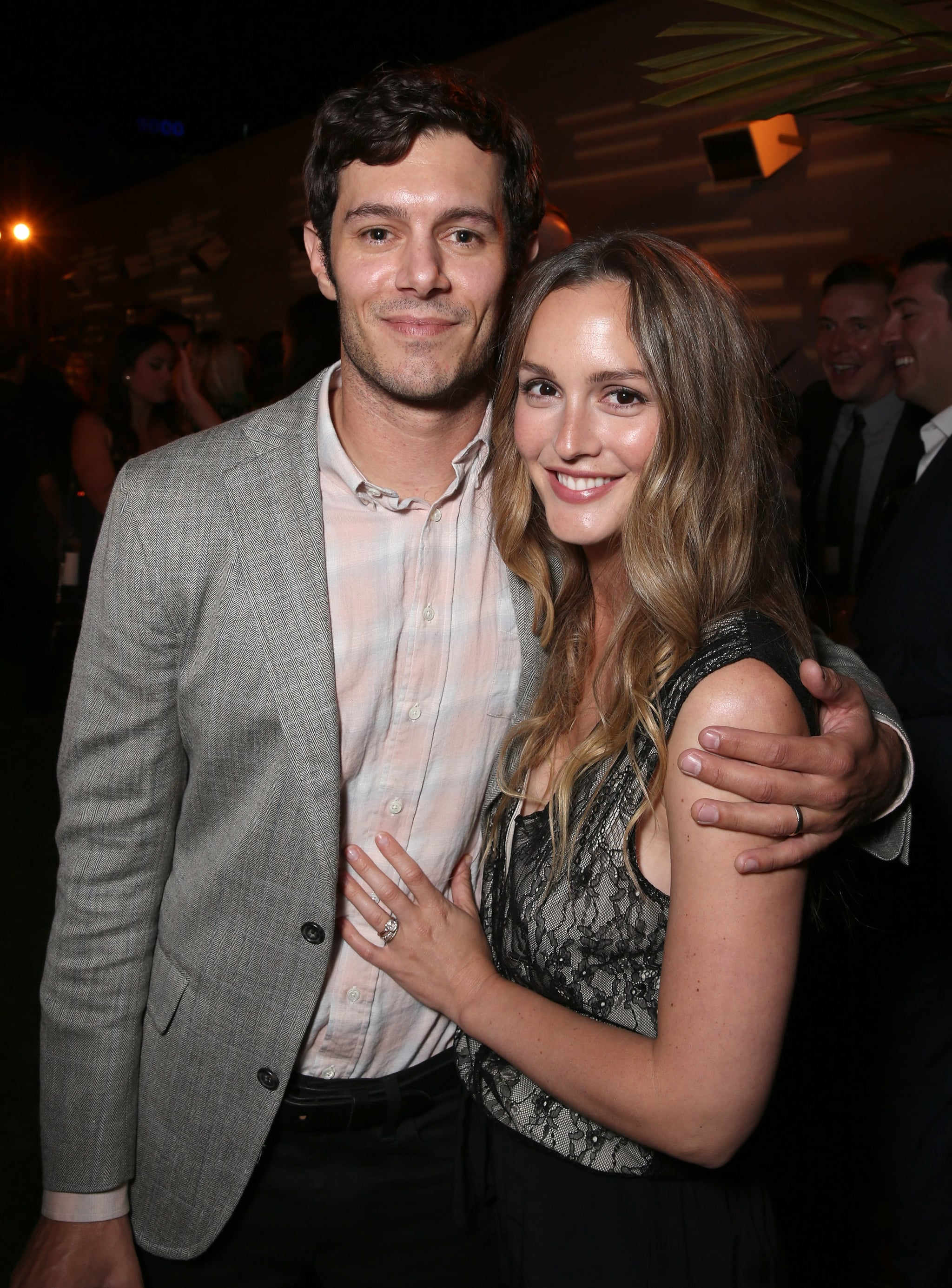 Adam brody leighton meester at startup premiere august 2016 popsugar