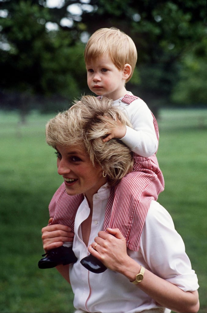 It's been almost 21 years since Princess Diana's tragic death, and we're honoring her memory by looking back at her sweetest mom moments. Even though she passed away in August 1997, her spirit lives on through her two sons. While Prince William is keeping royal parenting traditions alive with his own family, Prince Harry has carried on his mother's legacy through his various philanthropies. Over the years, the royal has gotten more comfortable talking about his late mother, and in turn, has given us a glimpse at their unbreakable bond. See some of their sweetest pictures together below.
