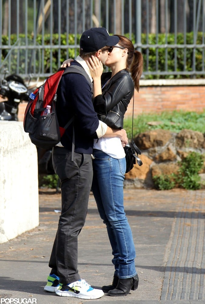 Olivia Wilde and Jason Sudeikis went in for a kiss in Rome.