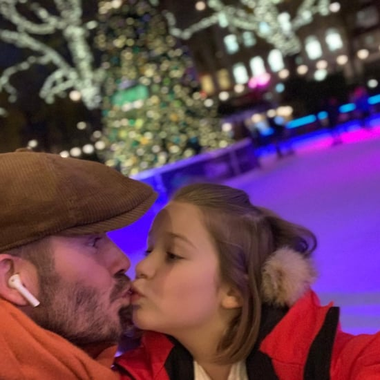 David Beckham Kissing Daughter on the Lips November 2018