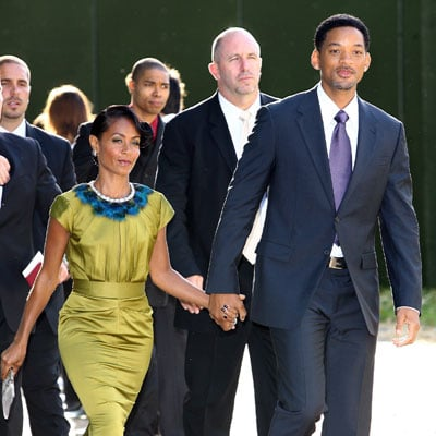 Will Smith and Jada Pinkett Smith at Nelson Mandela's Dinner