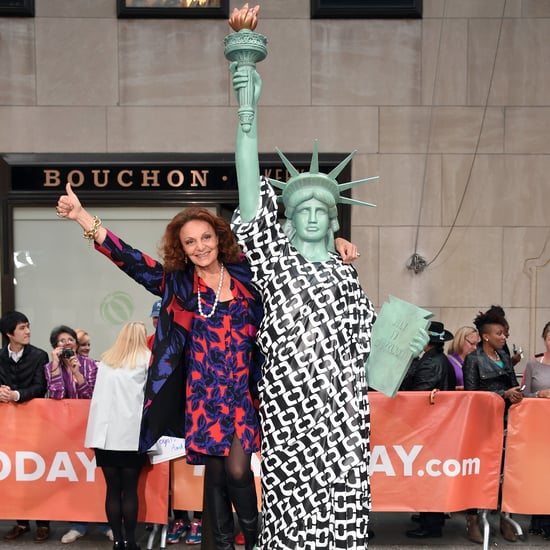 DVF Is Dressing the Statue of Liberty in a Print Wrap Dress