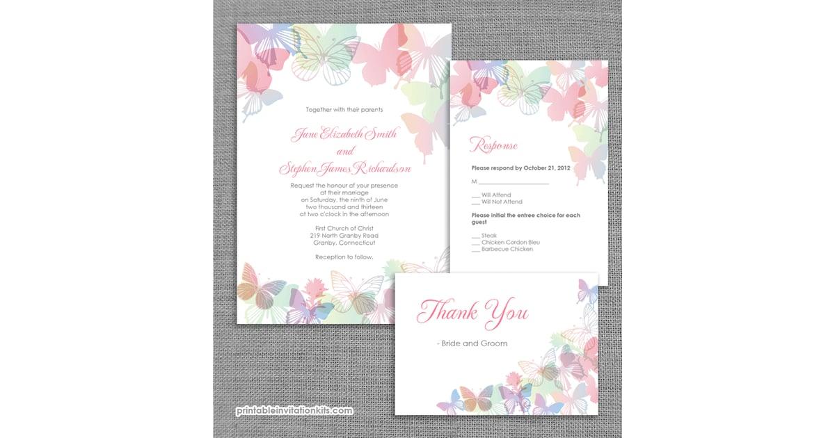 555d79a2774 Spring Butterflies Wedding Invitation