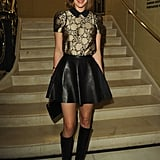 Arizona Muse at Vogue and Alexandra Shulman's dinner honoring Michael Kors in London.