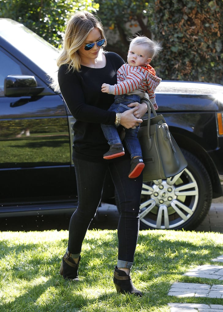 Hilary Duff and Luca Comrie made their way into a friend's house.