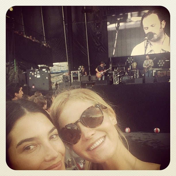Lily Aldridge and Erin Heatherton checked out Lily's husband, Caleb Followill, during his Kings of Leon performance at the Governors Ball music festival in New York. Source: Instagram user officiallilyaldridge