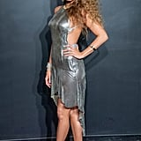 Blake Lively Wearing a Slinky Metallic Dress