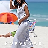 On Sunday, Kelly Rowland hit the beach in Miami.