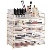 Large Five-Tier Acrylic Cosmetic Makeup Storage Case
