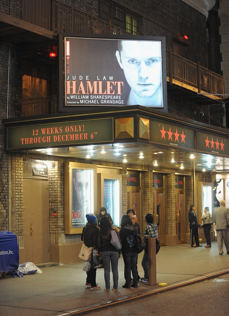 Jude Law, Ed Westwick and Hamlet Opening Night