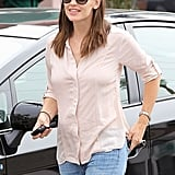 Jennifer Garner wore sunglasses out in LA.