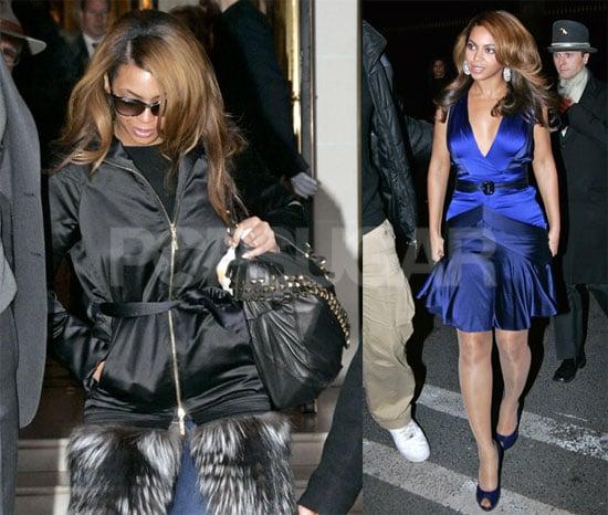 Beyonce Knowles Is Blue in Paris