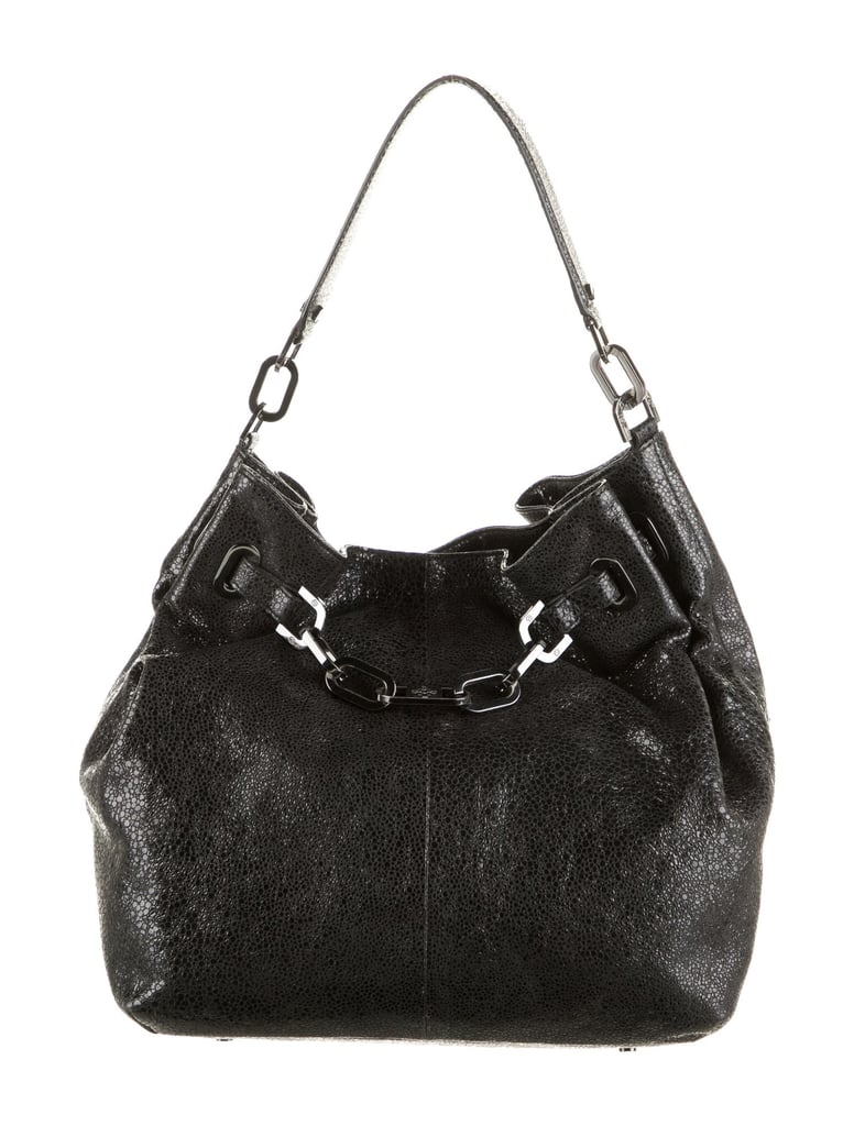 Vintage Tory Burch Textured Chain Link Leather Hobo Bag