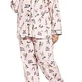 PJ Salvage Playful Print Flannel Pajamas