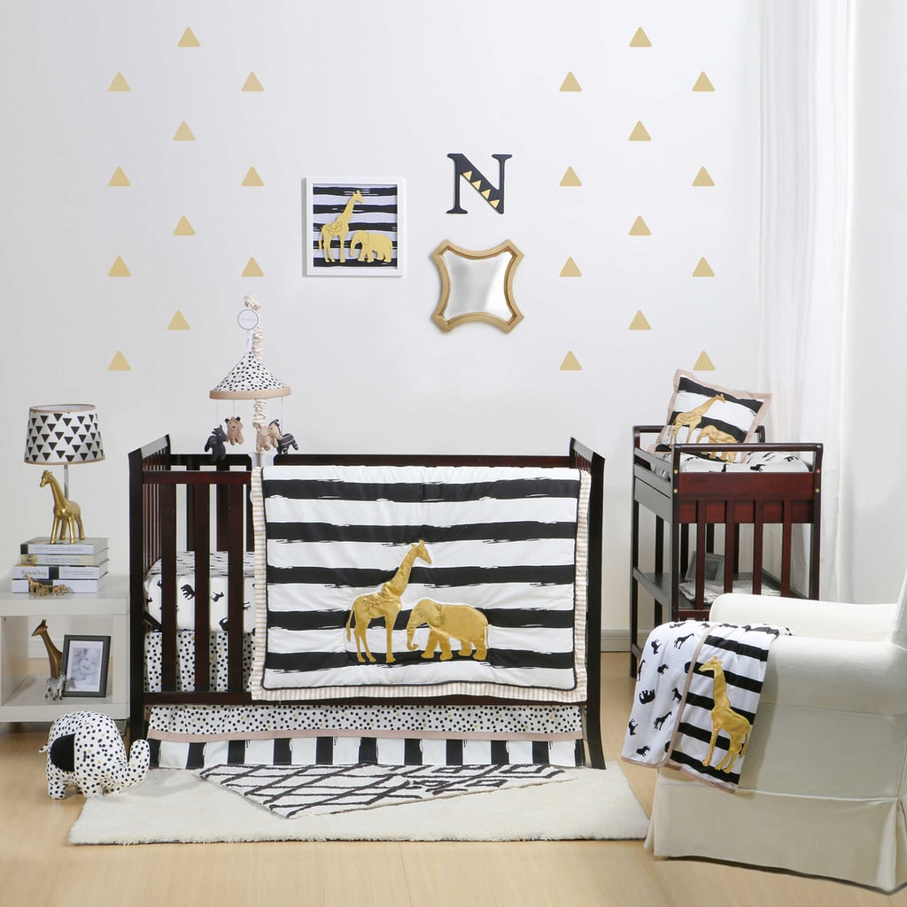 The Peanut Shell Safari Crib Bedding Collection