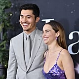 Henry Golding and Emilia Clarke at the Last Christmas Premiere