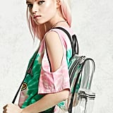 The Forever 21 Contrast-Trim Clear Backpack ($25) makes sure you know where all your valuables are.