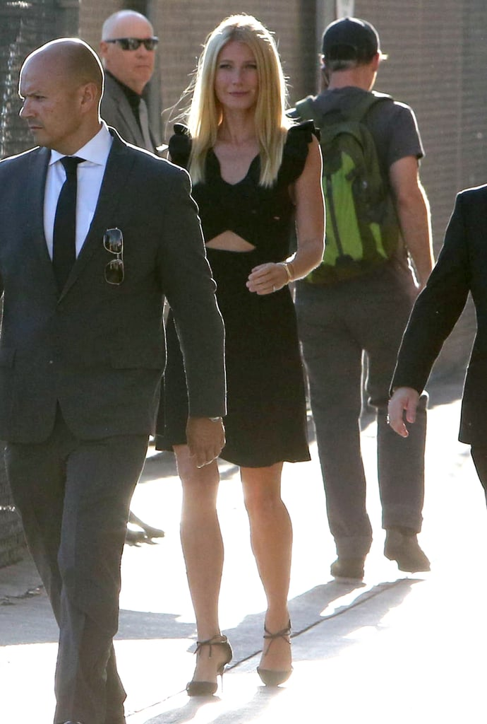 Gwyneth Paltrow made a glamorous exit from the Jimmy Kimmel Live! studio in LA on Wednesday.