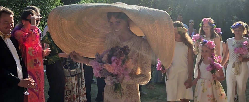 Emma Leth Wedding Dress and Jacquemus Hat