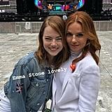 Emma Stone and Geri Horner