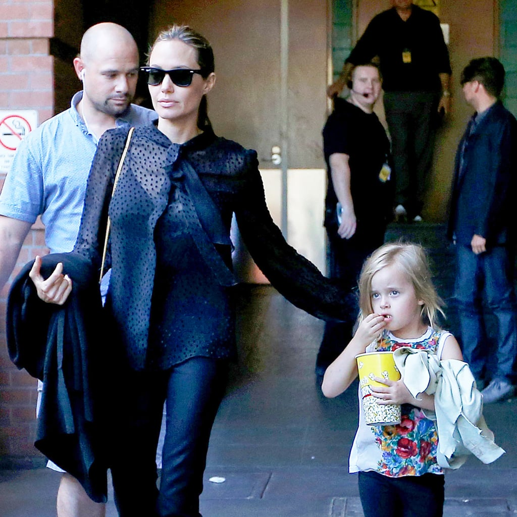 Angelina Jolie and Her Kids at The Lion King   Pictures