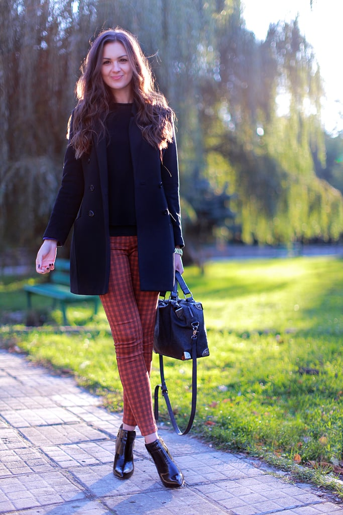Add pep (and prep!) to your look with a pair of printed plaid bottoms. Source: Lookbook.nu