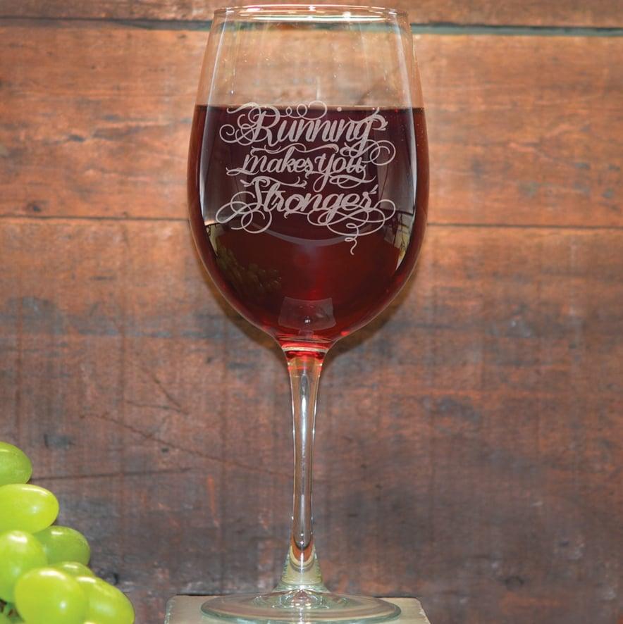 Math Miles Wine Glass